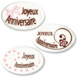 PLAQUETTE JOYEUX ANNIVERSAIRE X3