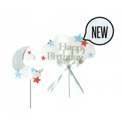 CAKE TOPPERS NUAGE LUNE